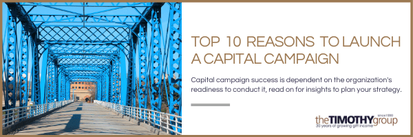 Top 10 Reasons To Launch A Capital Campaign